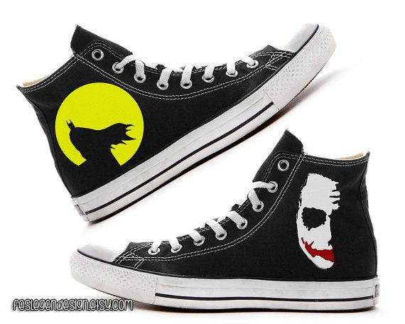 96d821ed0891 Batman Joker Custom Converse   Painted Shoes