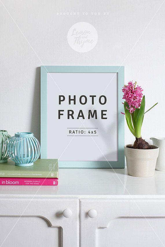 4x5 mockup blue frame mockup portrait frame psd file frame 4x5 mockup blue frame mockup portrait frame psd file frame on sideboard styled stock photo 8x10 photo frame instant download solutioingenieria Images