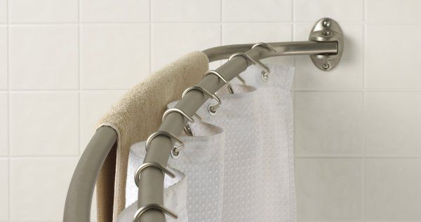 Zenith Products 56 Inch To 72 Inch Adjustable Double Curved Shower