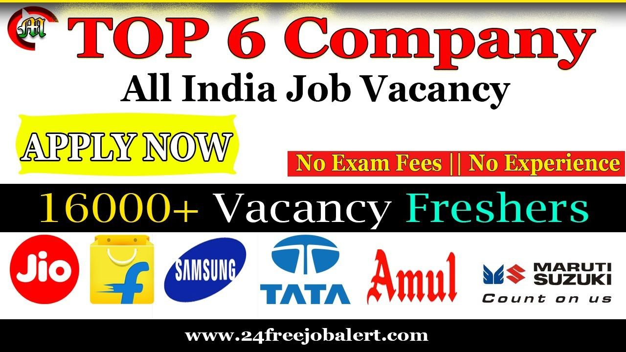Top 6 Company Recruitment in India 2020 in 2020