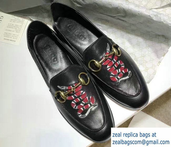 gucci shoes black snake. gucci horsebit leather loafers snake black 2017 shoes