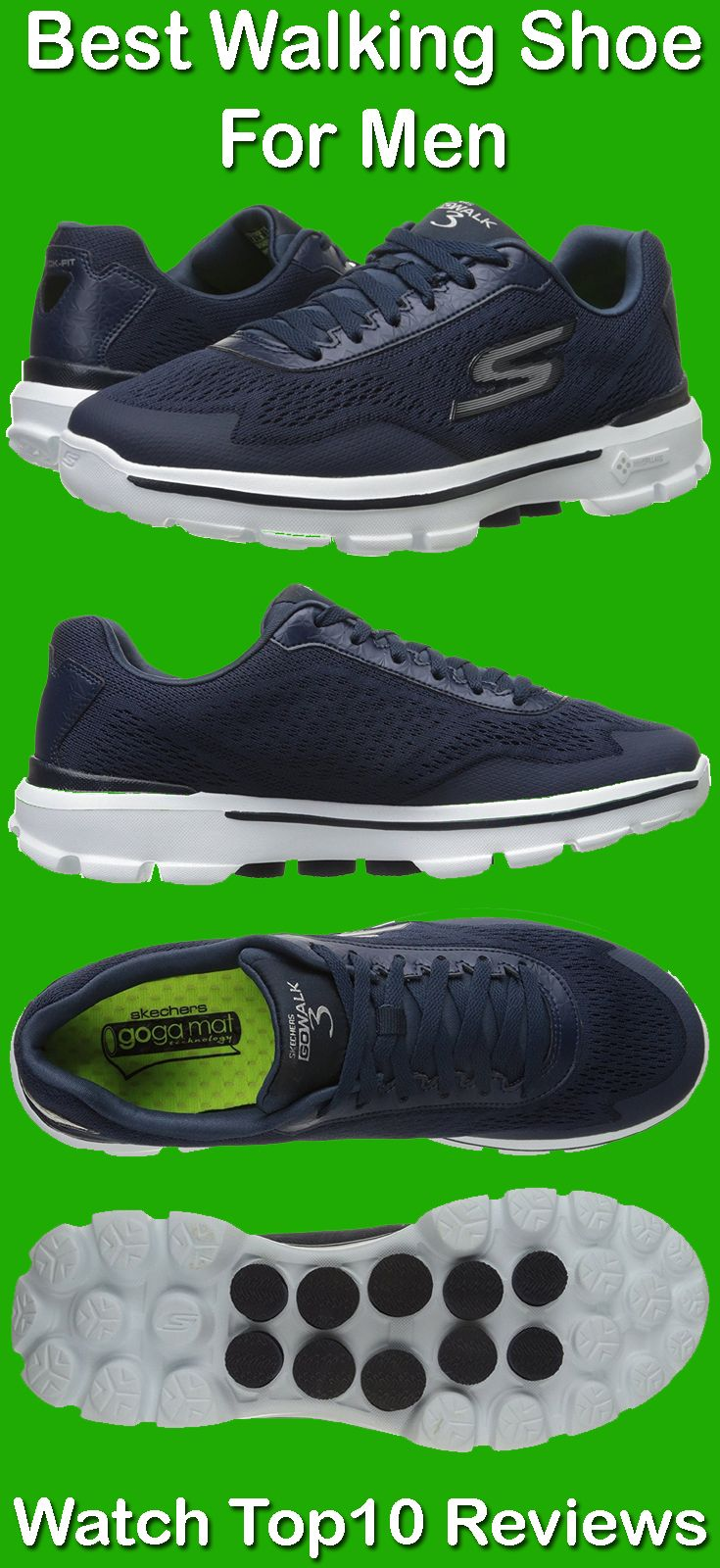 1af2199d28ef Skechers Performance Men s Go Walk 3 Skechers Go Walk 3 Reaction is a  lightweight walking shoe features mesh and synthetic fabric upper