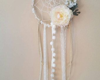 Pink Shabby Chic Dream Catcher. Romantic Baby by ProvencalMarket