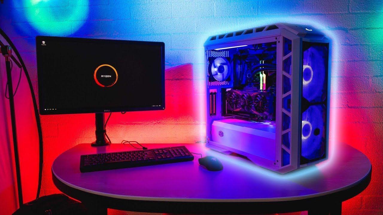 Amd Ryzen 7 2700x First Build Cooler Master H500p Mesh Cooler Mast Cooler Master Amd Power Station