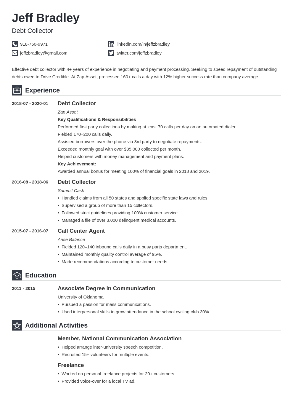 Collector Resume Example Template Iconic Resume Examples Job Resume Examples Resume