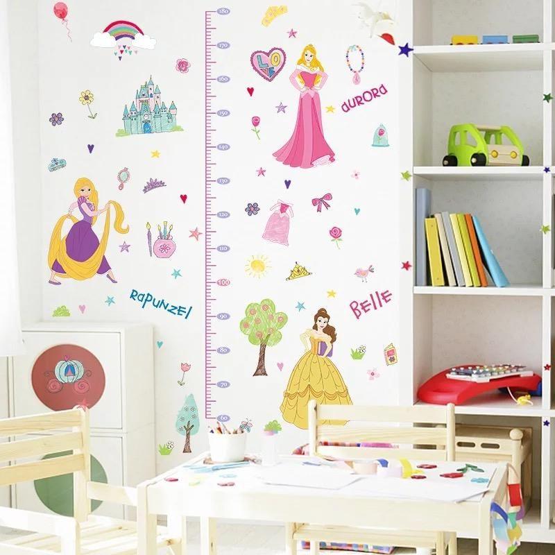 disney princess height chart wall decals | pinterest | height chart
