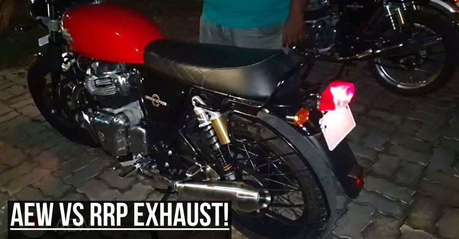 Royal Enfield Interceptor 650 Special Exhaust Faceoff Aew Vs Red