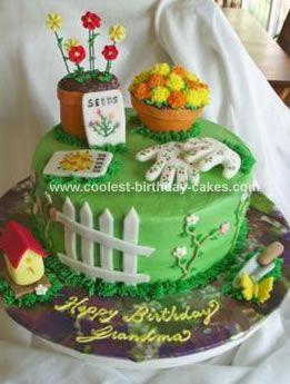 coolest garden cake - Garden Design Birthday Cake