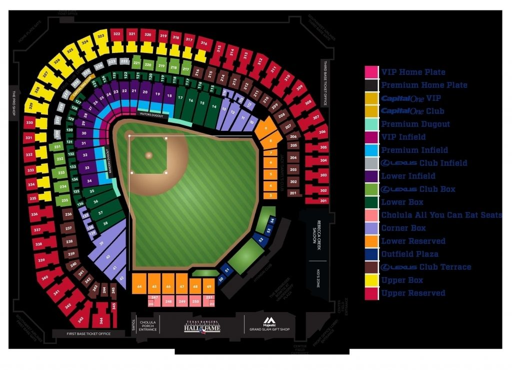 Stylish And Lovely Rangers Ballpark Seating Chart With Seat Numbers Di 2020