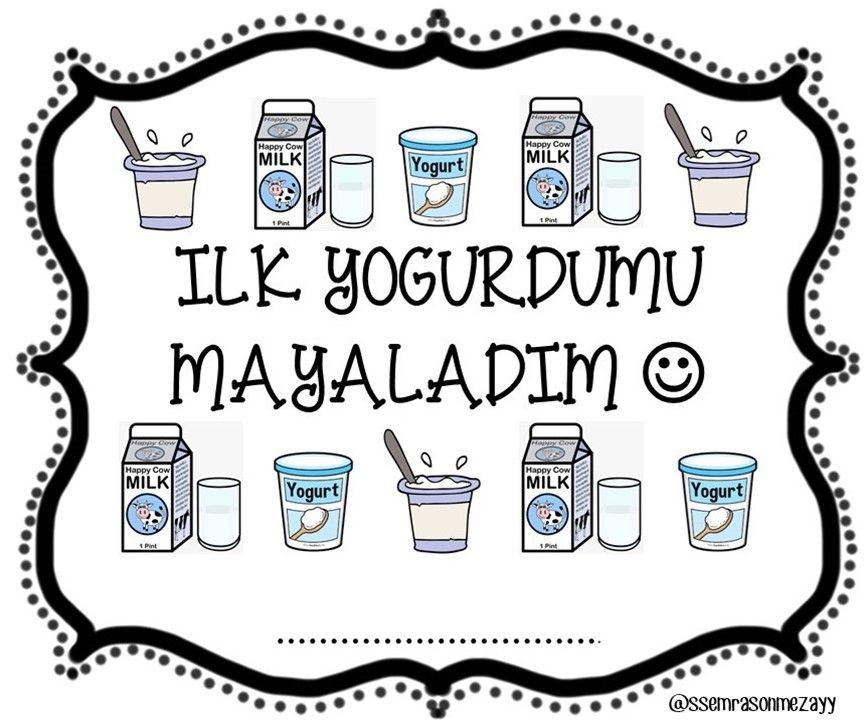 Okul Oncesi Yogurt Mayalama Etkinligi Icin Etiket Material
