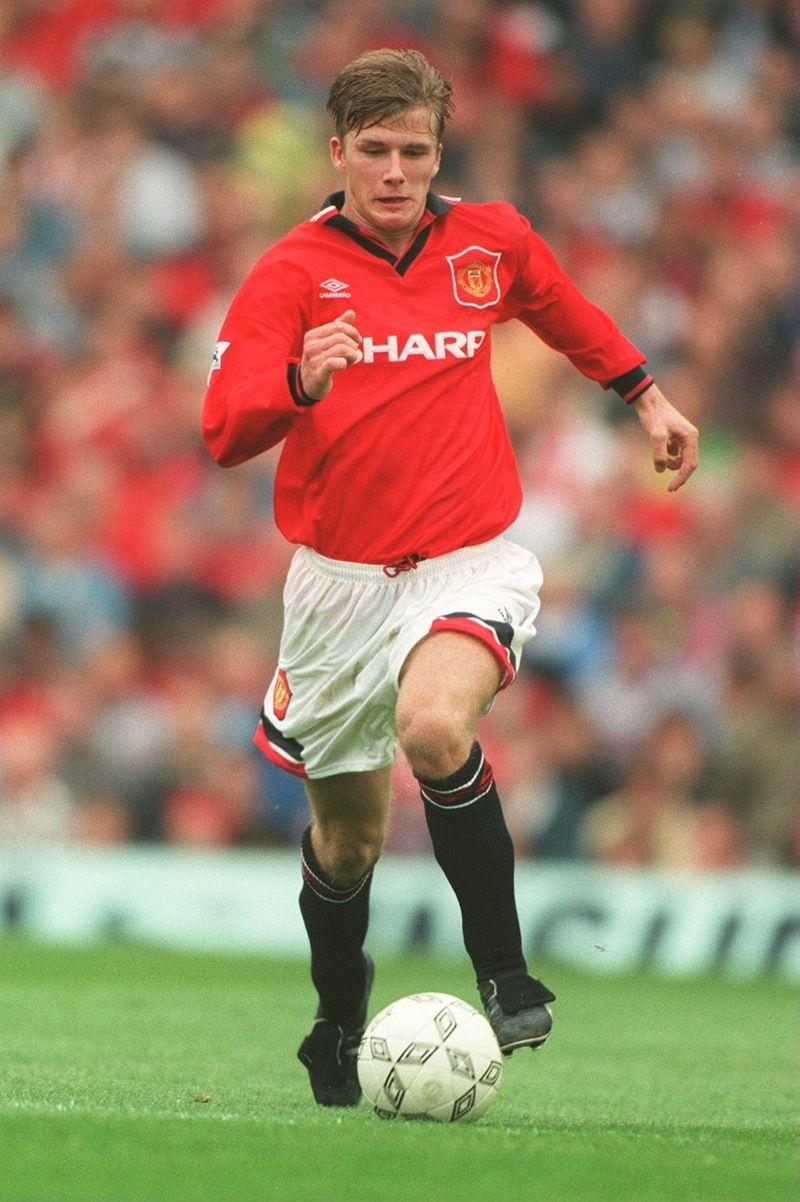 Young David Beckham On Manchester United Con Imagenes Liga