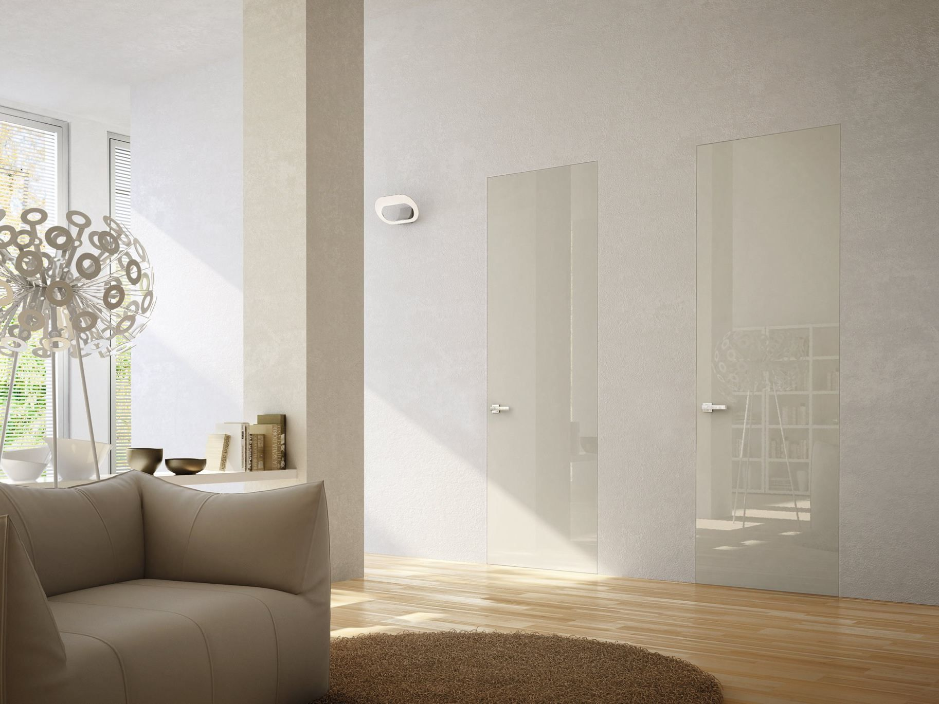 Flush to the wall PORTA A FILO MURO LEGGERA BY PIVATO | Doors ...