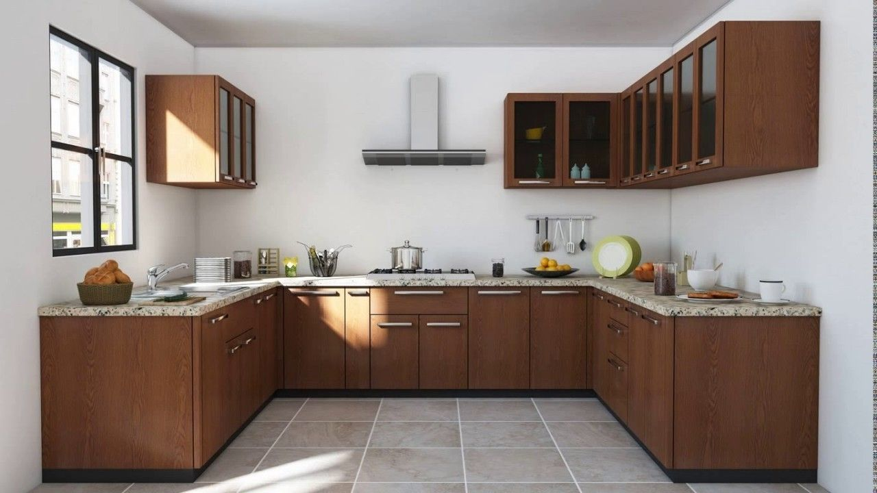 Indian Modular Kitchen Design U Shape Youtube Kitchen Design