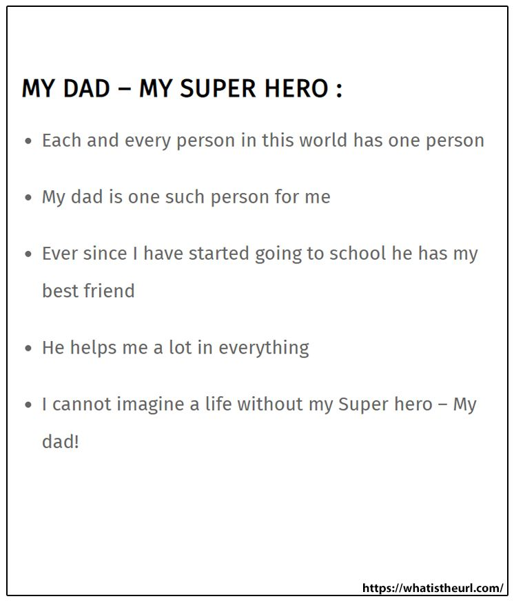 My Dad Super Hero In 2021 Essay On Memorable Day Of Life