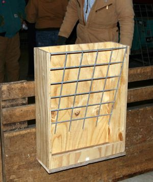 Easy Do It Yourself Wall Mount Hay Feeders For Goats Or