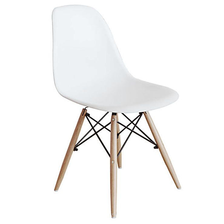 At Home 59 99 White Eiffel Chair With Wood Legs