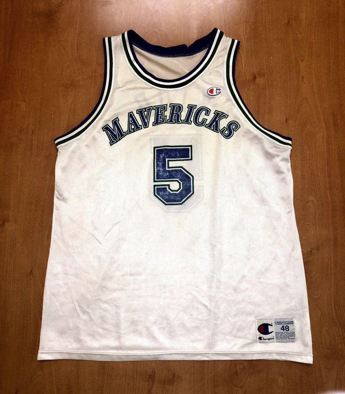 de6799046844 Vintage 1995 - 1998 Jason Kidd Dallas Mavericks Champion Jersey Size 48 hat shirt  mavs rolando blackman cedric ceballos berkeley nba finals by ...