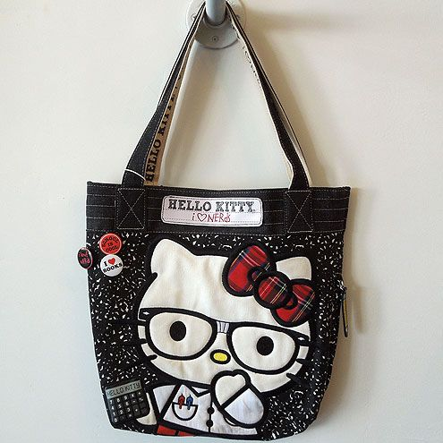 89d614c4bcef Product  Hello Kitty Nerds Composition Tote Bag