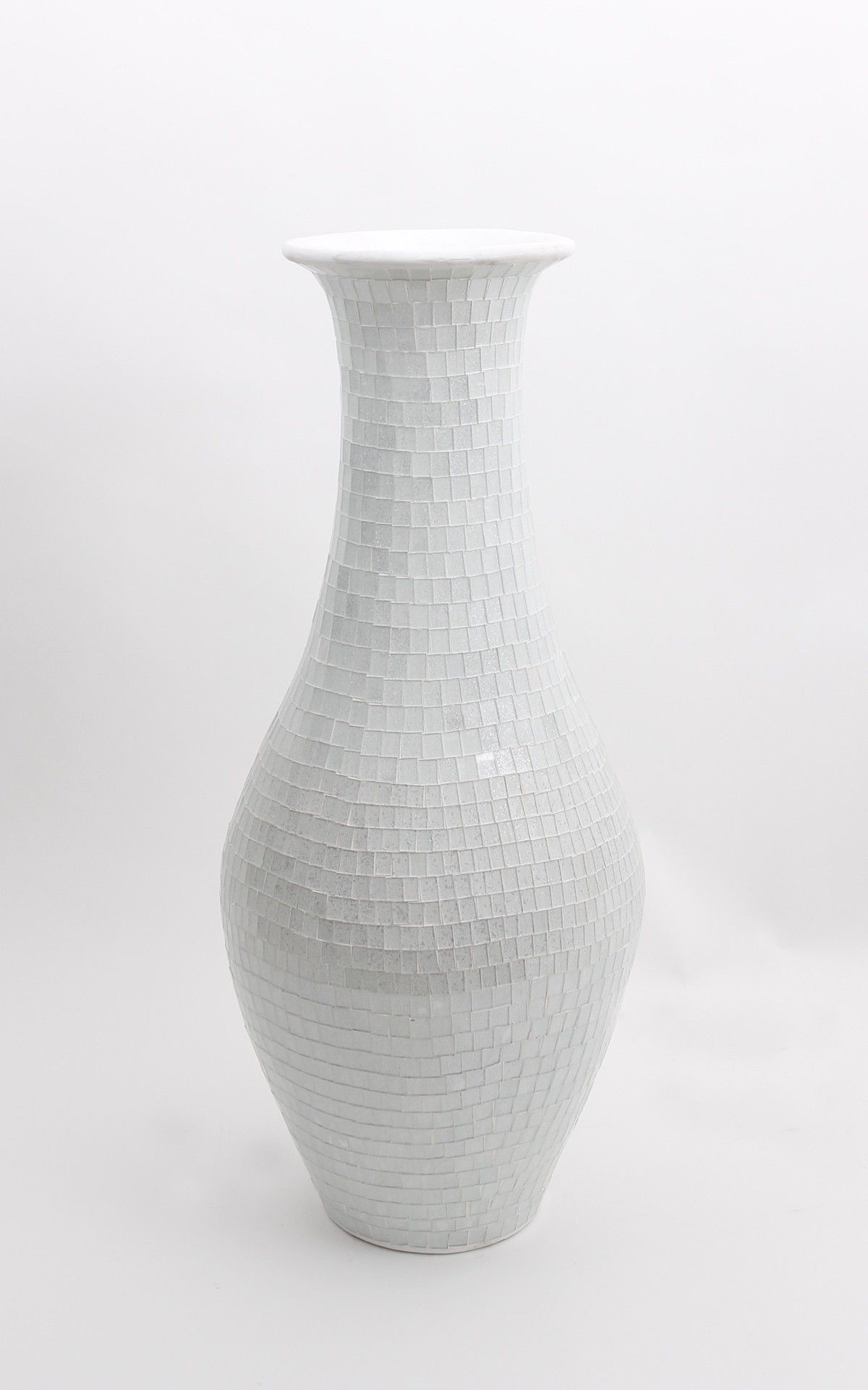 Tall floor vase with glass mosaic 80 cm ceramic white office tall floor vase with glass mosaic 80 cm ceramic white reviewsmspy