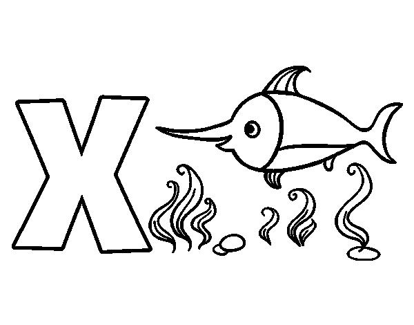 Dibujo del Abecedario - Letra X para colorear | Dibujos del ...