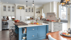 Blue And White Kitchen Ideas Drabinskygallery Inside Blue And