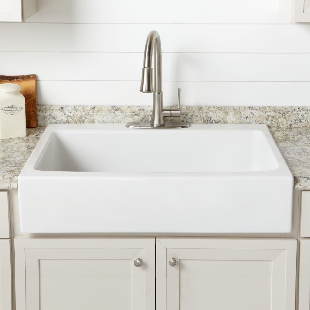 Josephine Quickfit Drop In Fireclay Farmhouse Kitchen Sink Single Bowl Kitchen Sink Farmhouse Sink Kitchen Best Kitchen Designs