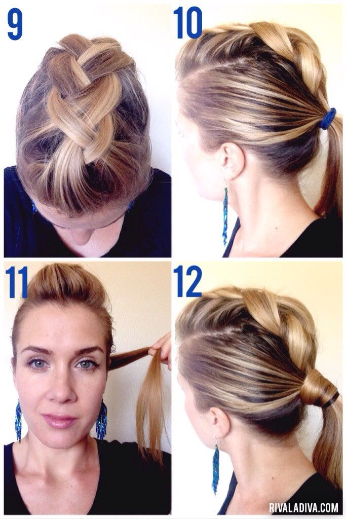 Create This Easy Diy Faux Hawk Tutorial For Long Hair Short Does Not Need All The Fun
