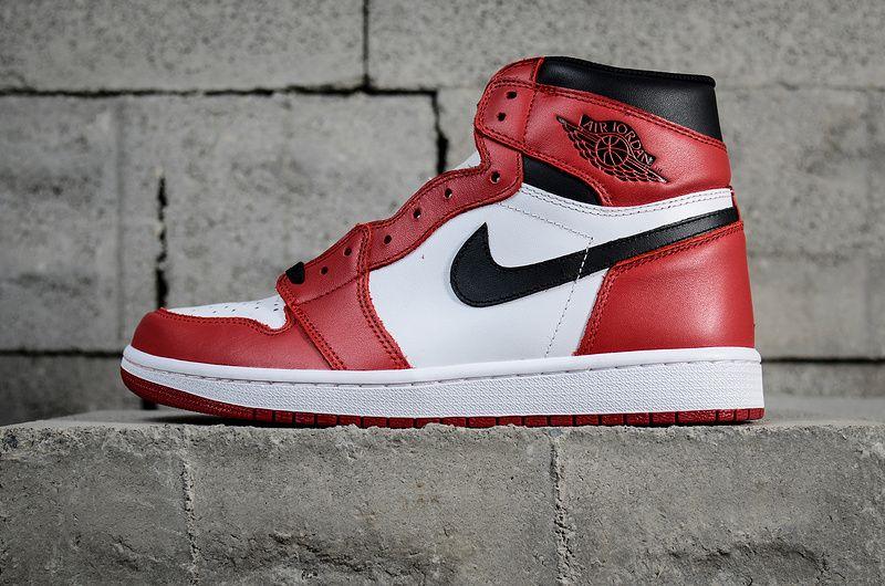 c25446b69a5 Nike Air Jordan 1 Retro High OG Banned Chicago White Black Varsity Red  555088-101 Hot Sale
