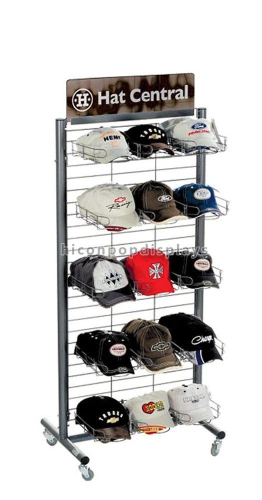 Grid Metal Cap Display Rack In 5 Layer From Hicon Pop Displays Limited Hat Display Cap Rack Cap Display