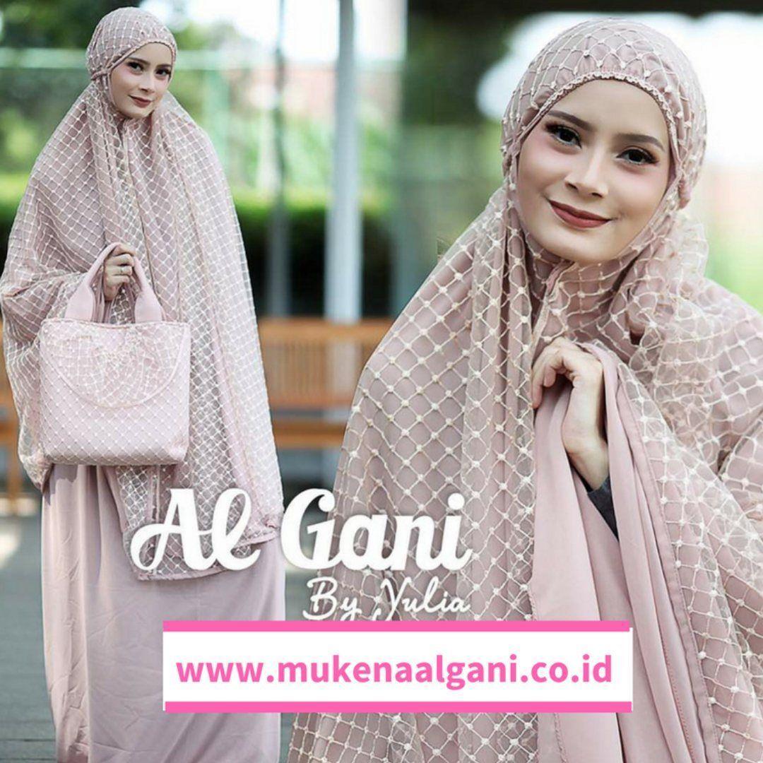 Mukena Zara Dengan Bahan Seruty Import Dan Brukat Timbul Spandek Motif Daun Exclusive Nan Cantik
