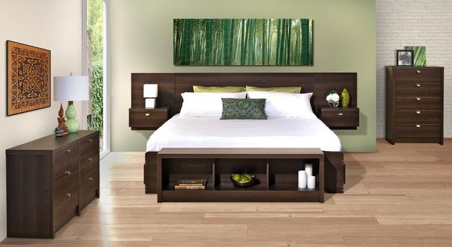 tete de lit avec rangement integre chambre deco. Black Bedroom Furniture Sets. Home Design Ideas
