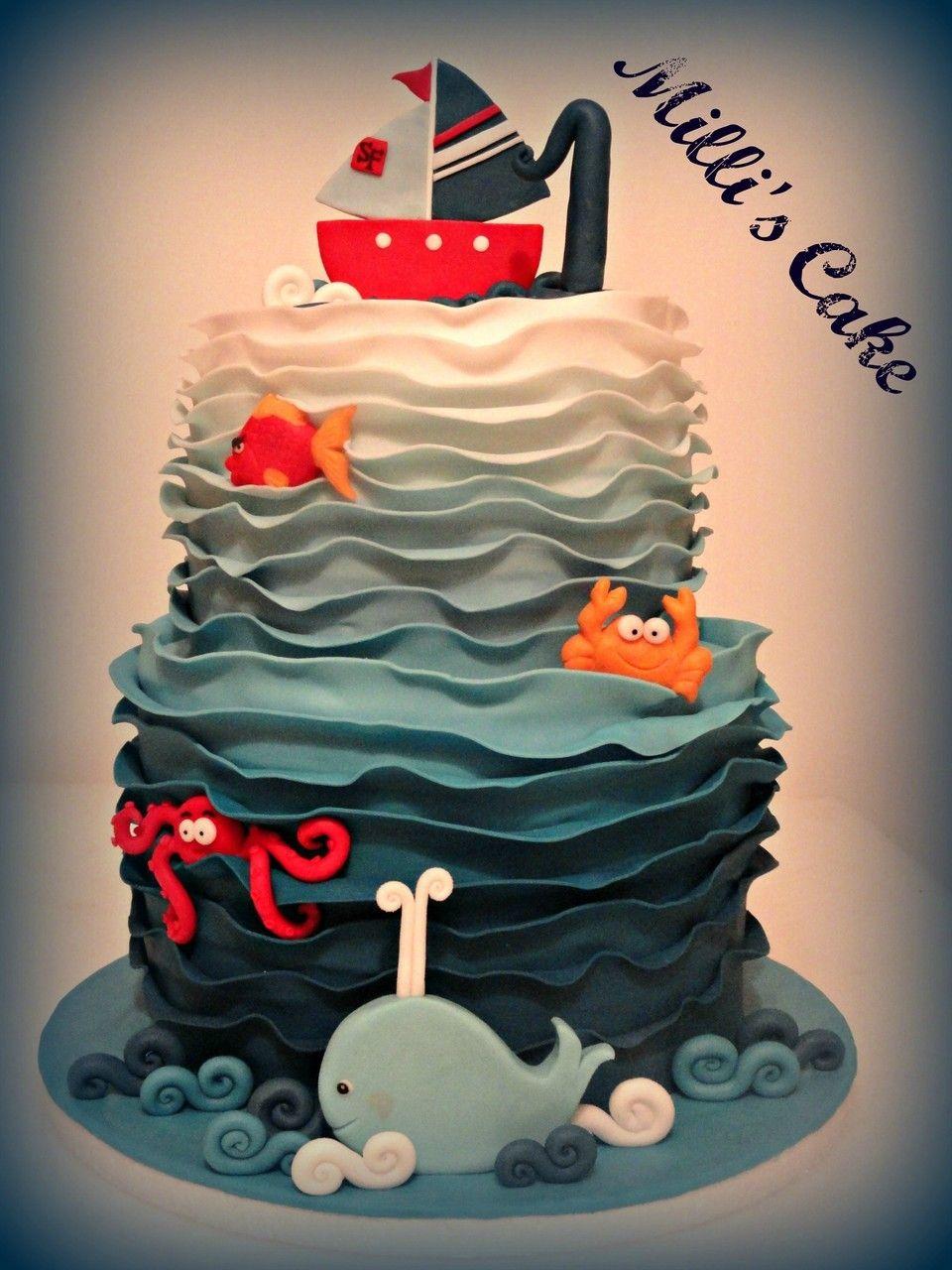 sea cake, baby cake www.milliscake.jimdo.com