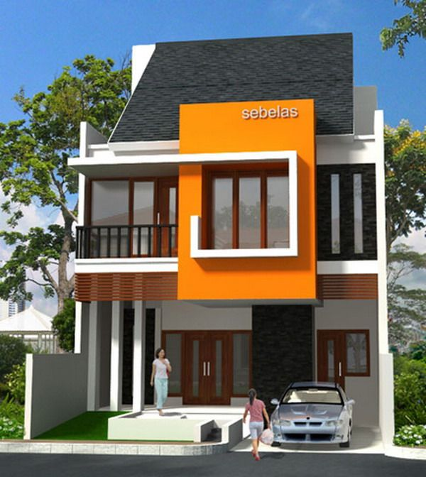 Europe : Modern Style New House Designs Exterior Small Garage