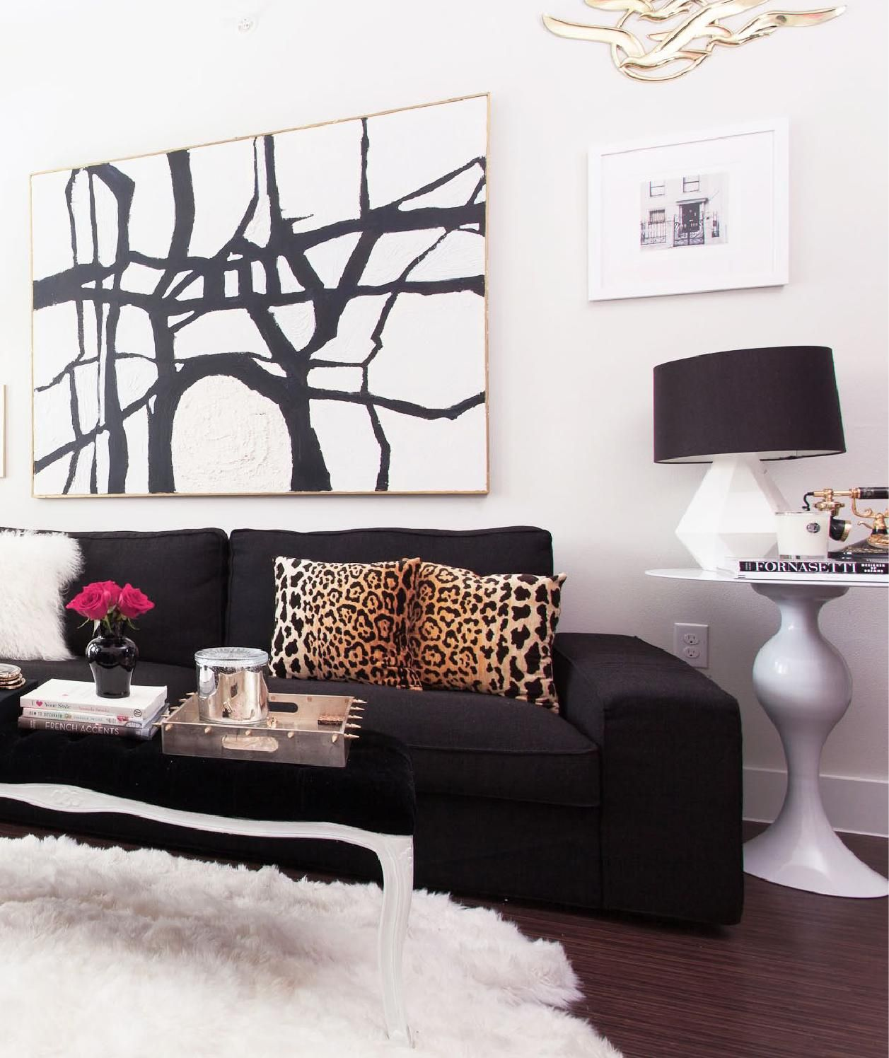 My apartment home tour decor ideas pinterest for Black decorated rooms