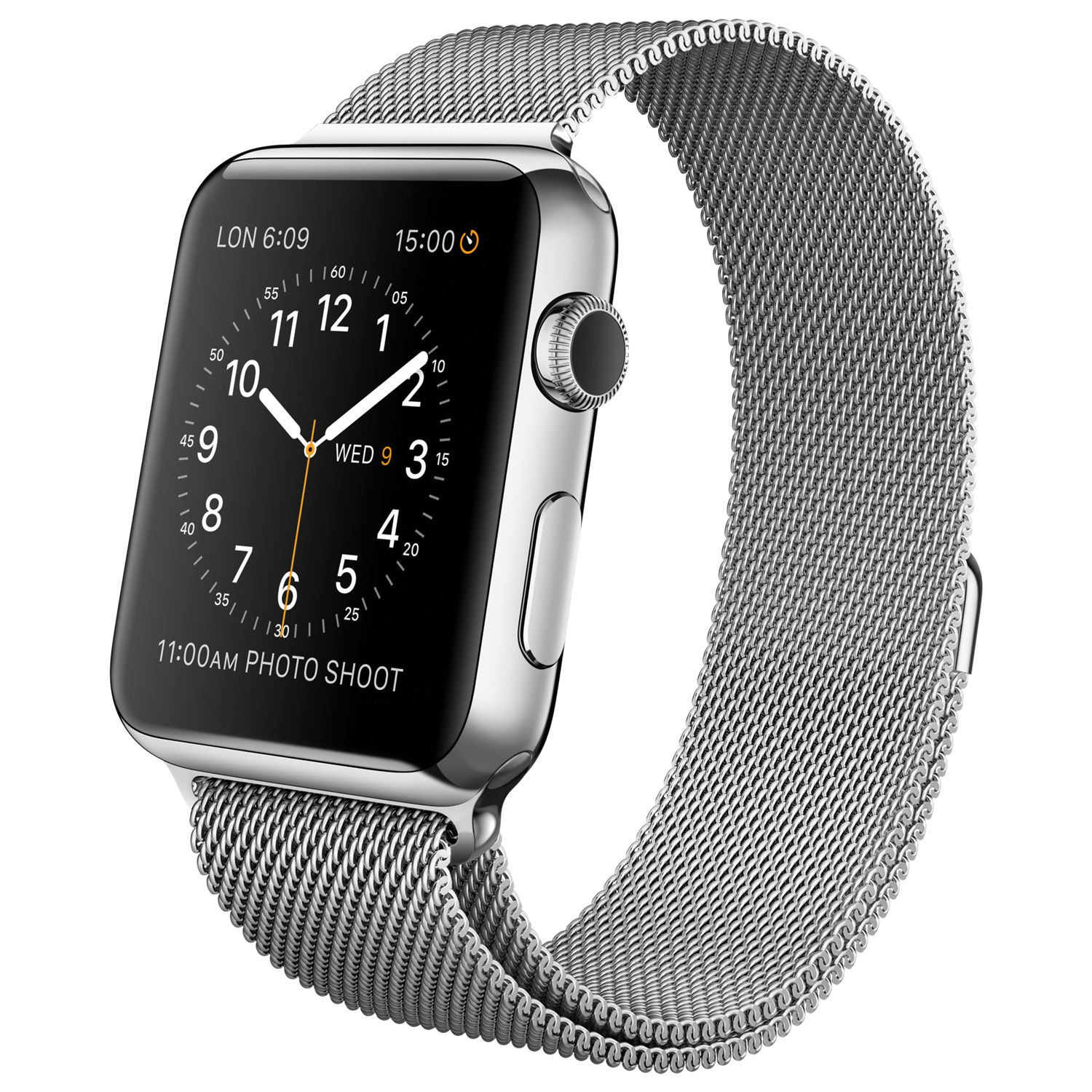 c31414fbd09 Apple Watch 42mm Stainless Steel Case with Milanese Loop http   store.apple