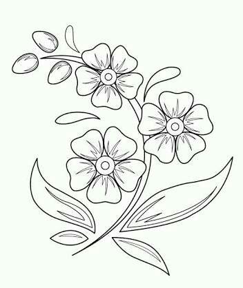 Desenhos E Bordados Easy Flower Drawings Beautiful Flower