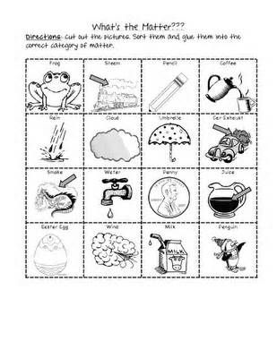 37++ What is matter worksheets kindergarten Images