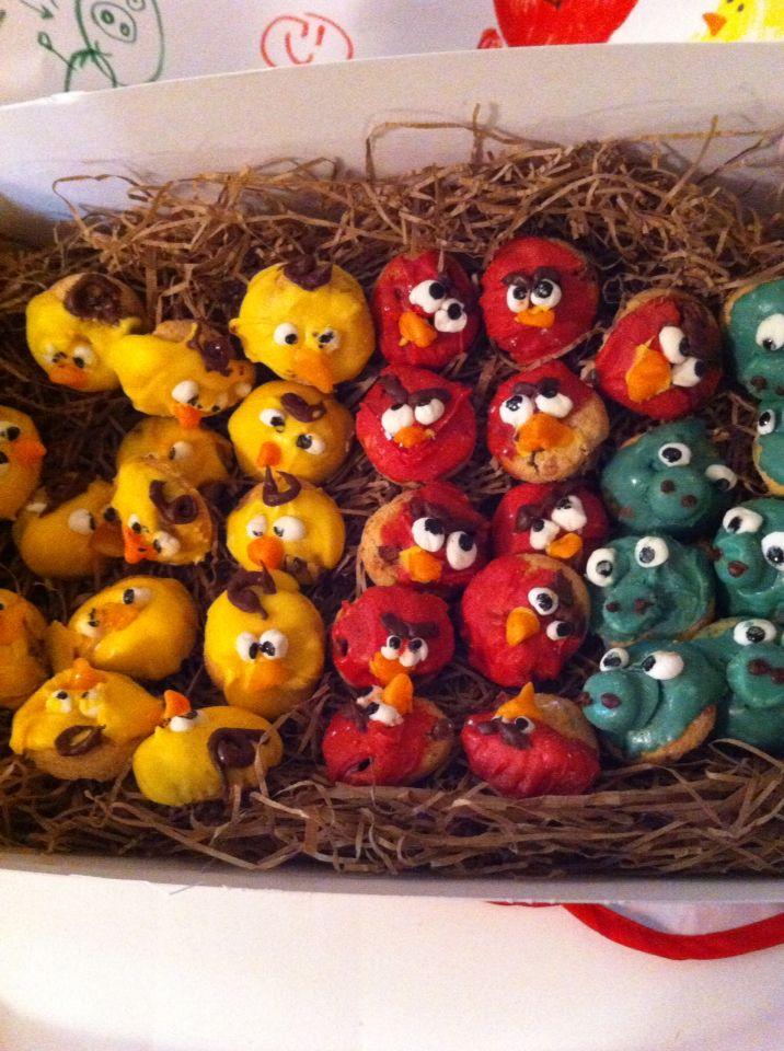 Angry Bird tiny cookies For Kae's bday