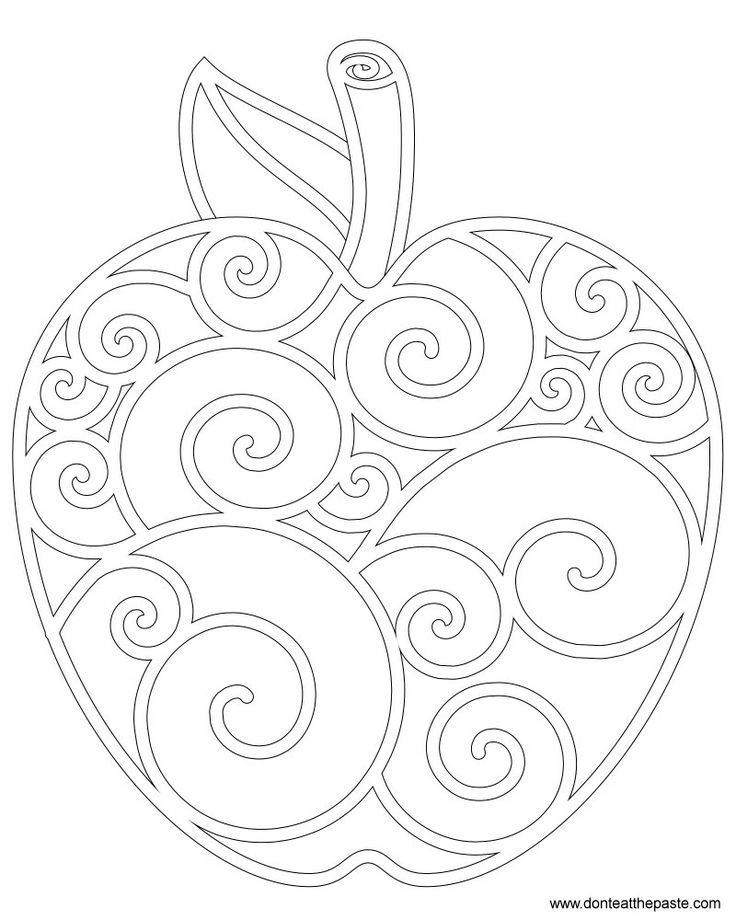 Interactive Coloring Pages For Adults : Fall apple coloring sheet printables