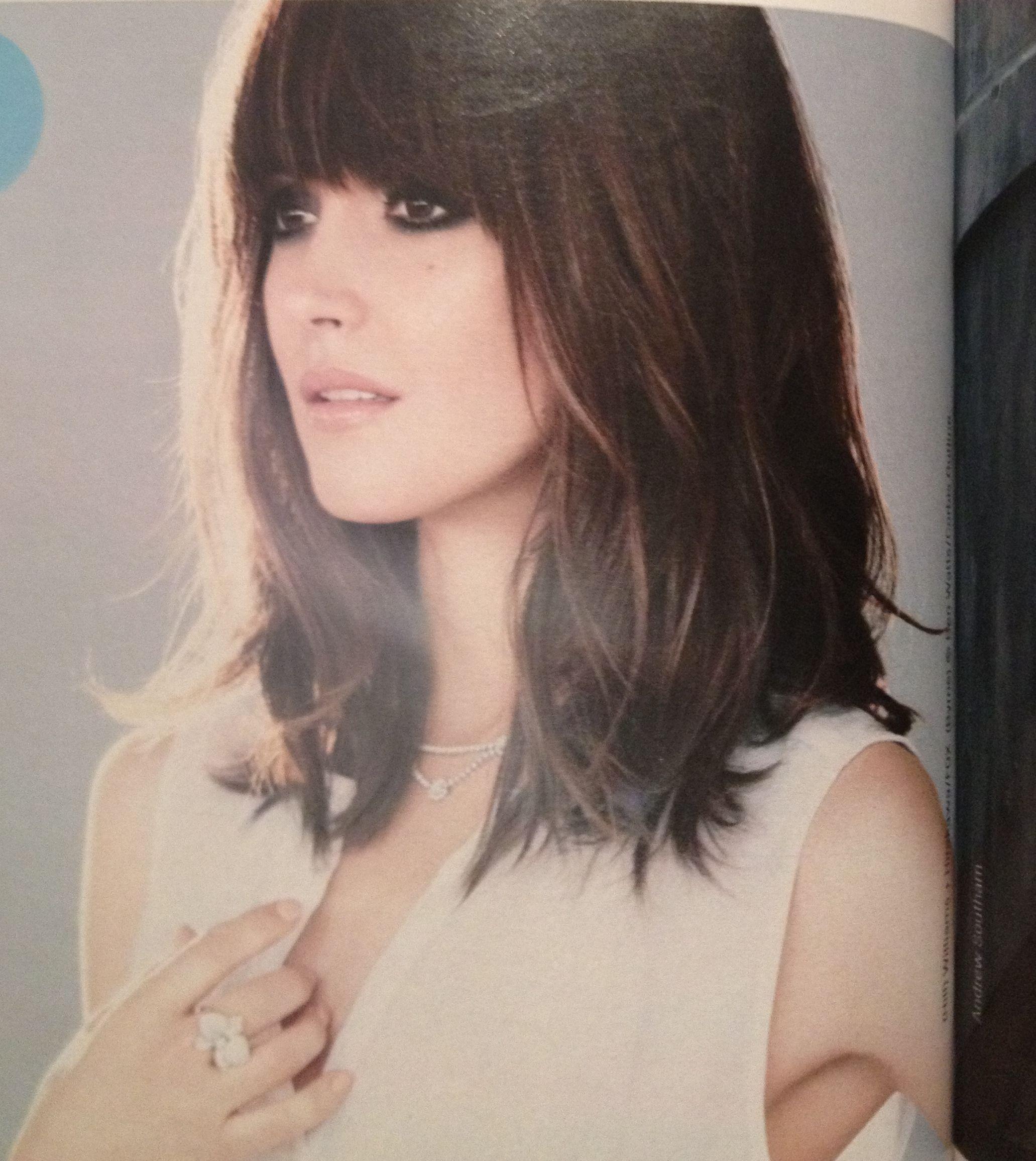 Pin by niki paloukou on hairstyles pinterest layered hair bangs