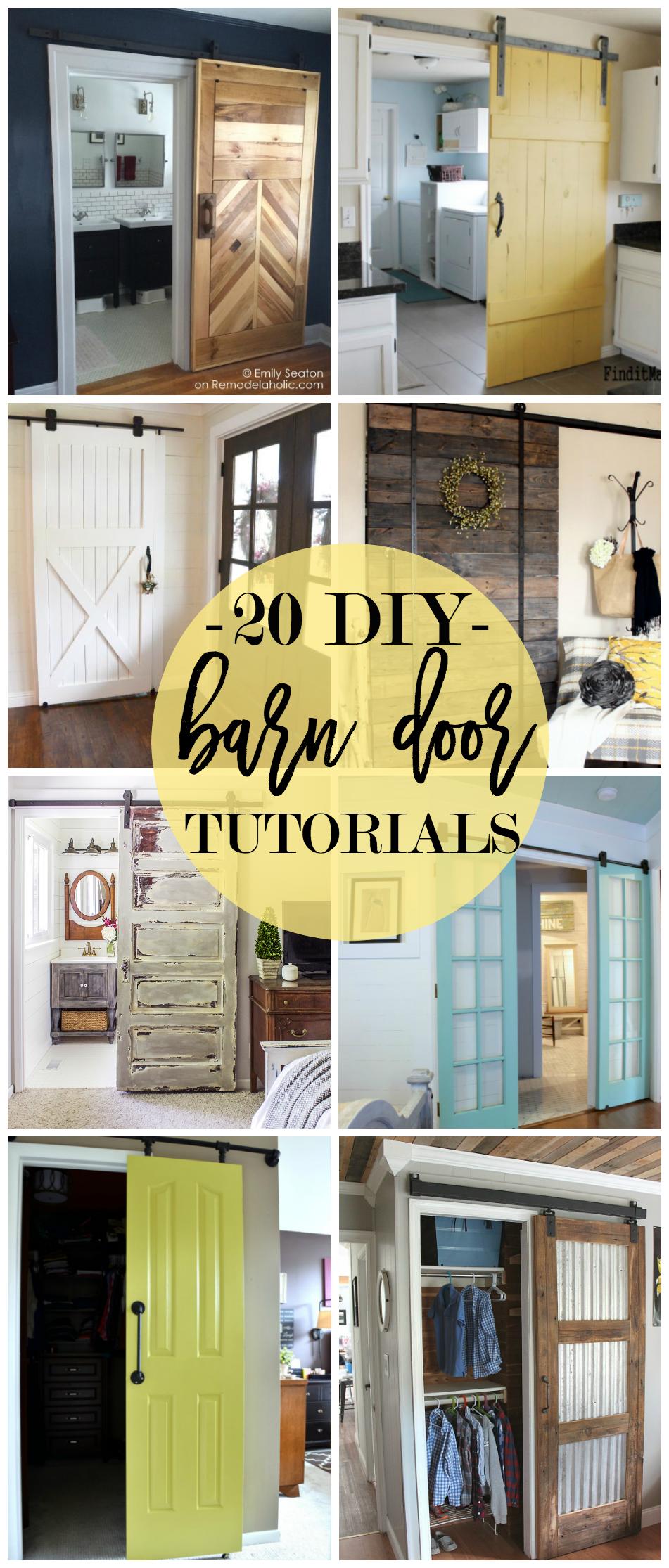 20 Diy Barn Door Tutorials Sliding Doors And