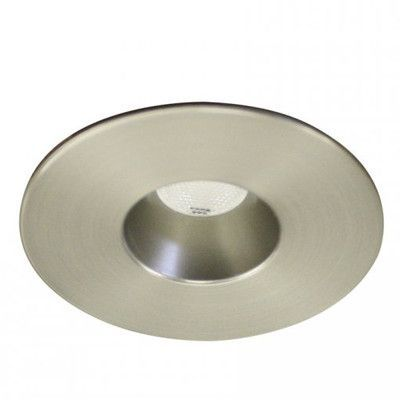 Wac lighting miniature downlight open reflector round 125 led ledme brushed nickel led round mini recessed light with soft white wac lighting mozeypictures Images