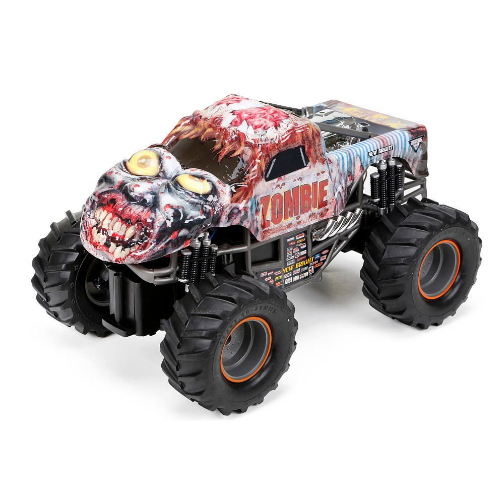 New Bright Monster Jam 1 15 Scale Remote Control Zombie Vehicle Newbright With Images Zombie Vehicle Monster Truck Toys Monster Jam