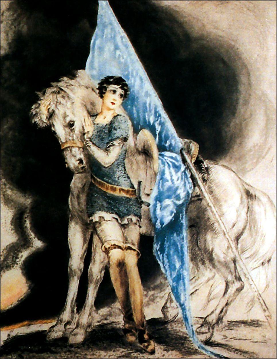 "Louis Icart - ""Joan of Arc."""