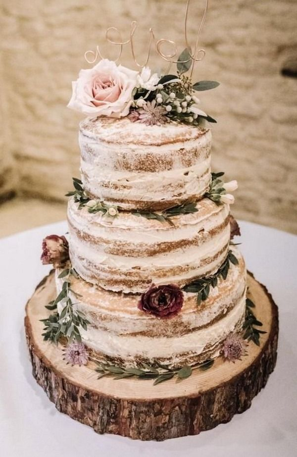 9 Country Rustic Wedding Cake Ideas  Wedding cake rustic country