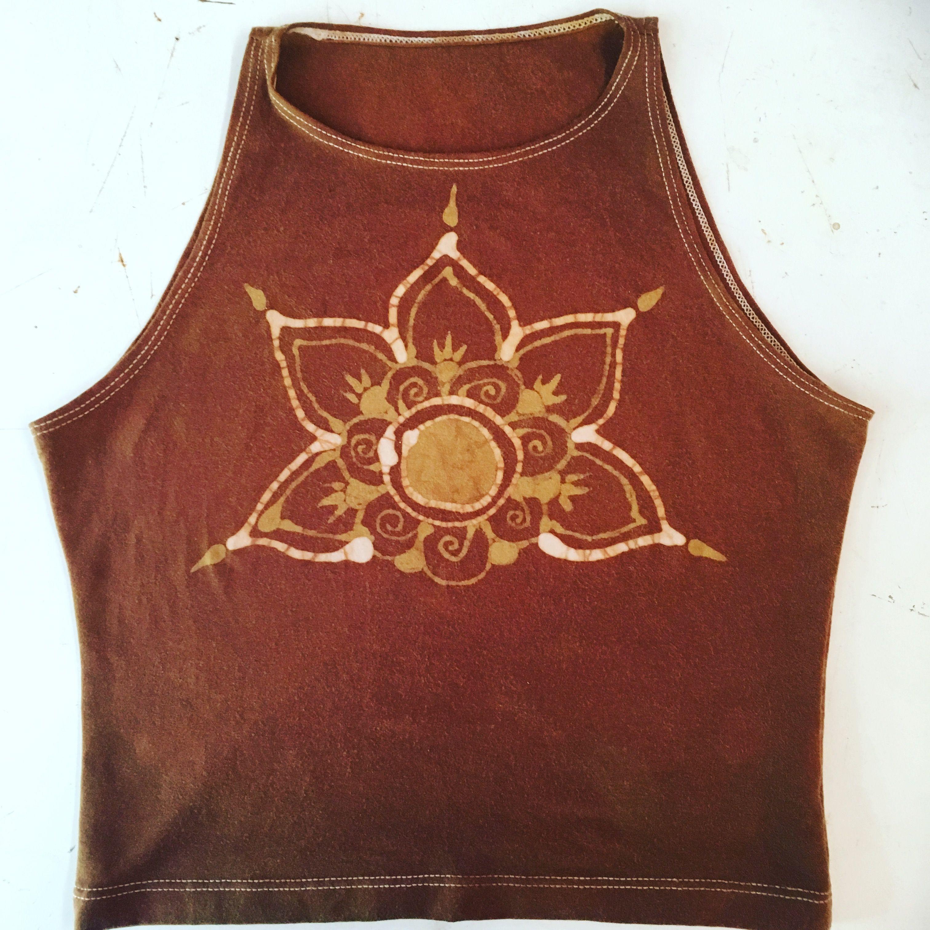 Tribal Batik Crop Top Design Inspired By India Henna