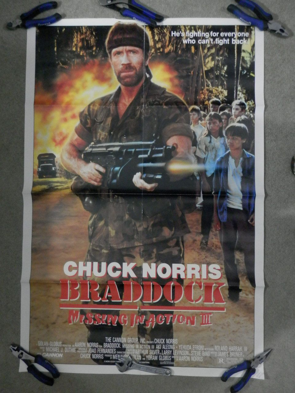 Vintage Braddock: Missing In Action III Original Movie Poster 1988 One  Sheet 27x41 Chuck Norris Action Adventure By WesternKyRustic On Etsy
