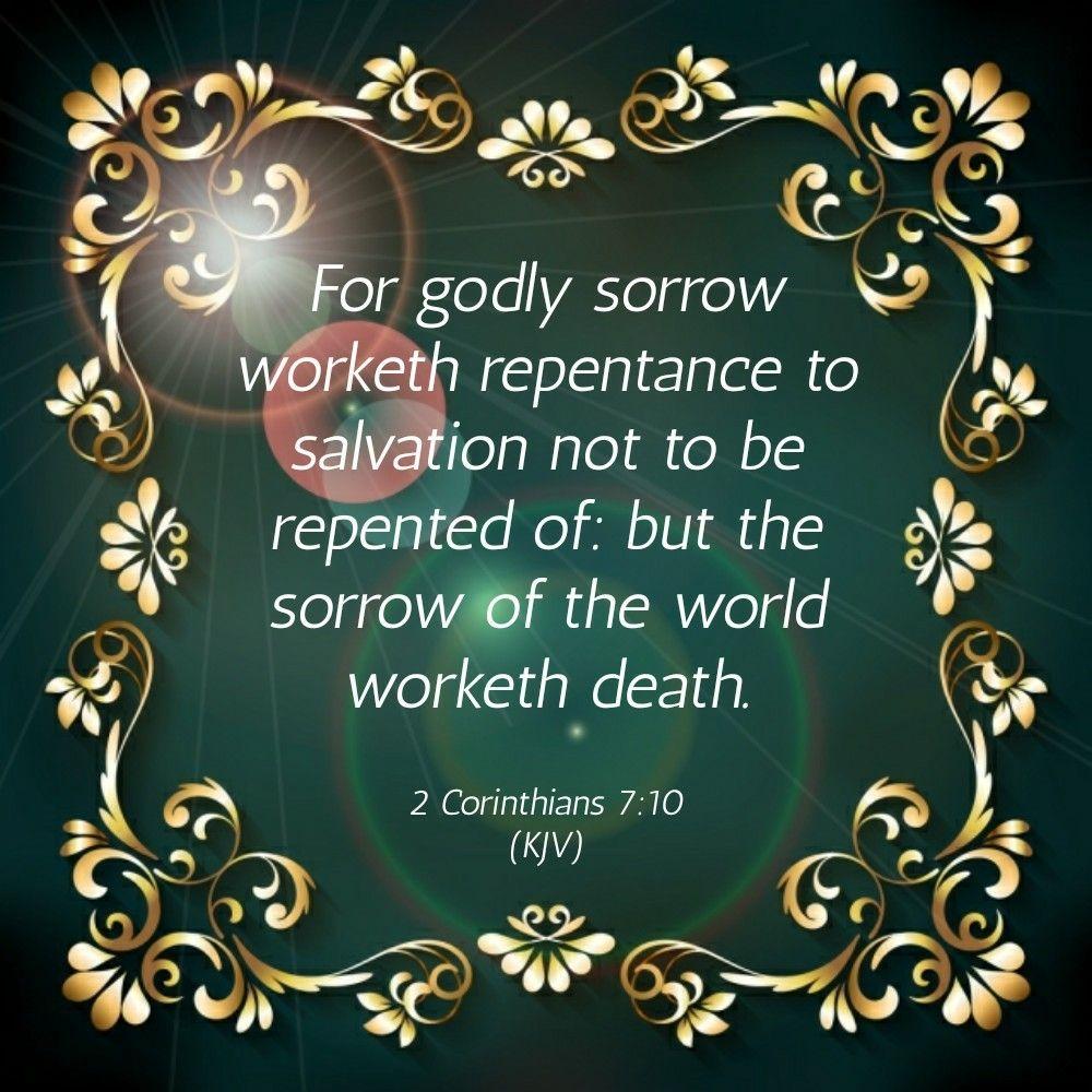 Image result for 2 corinthians 7:10 kjv