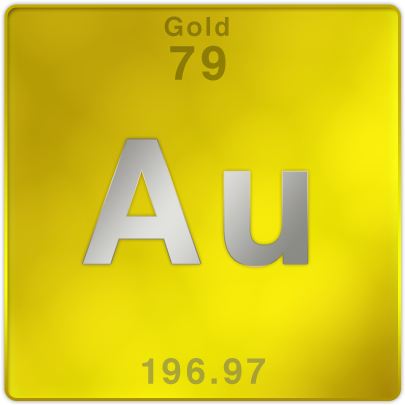 This picture shows the abbreviation for the element Gold. The ...