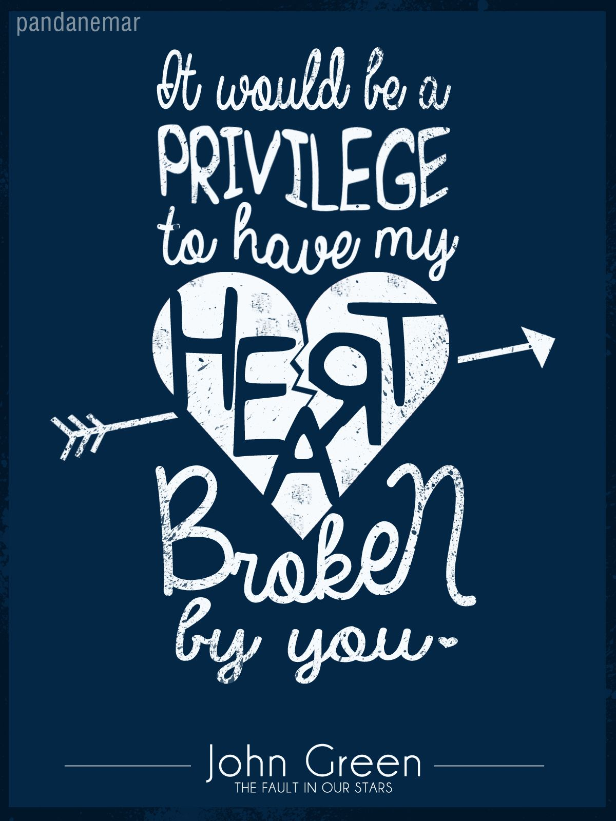 """pandanemar: """"It would be a privilege to have my heart ..."""